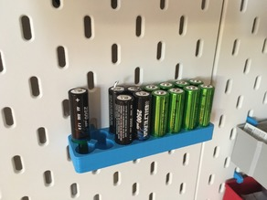 Battery tray for IKEA Skadis
