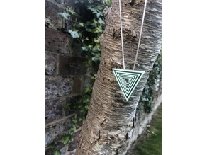 Concentric triangles pendant / brooch