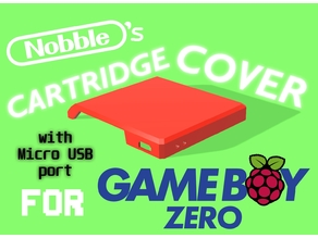 Gameboy Zero Cartridge Cover w/ Micro USB Port