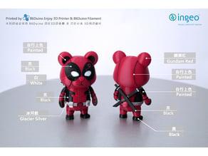 86Duino Bear Deadpool / 死侍 / デッドプール