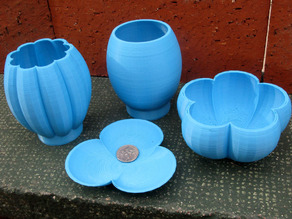 Epicycloidal Bowls Vases