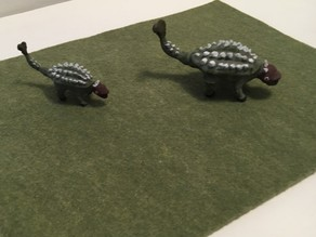 Miniature Ankylasaurus Dinosaur