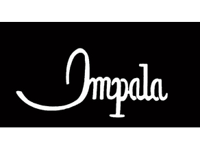 1968 Impala name badge