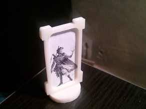 Nickel Stand for role playing portraits