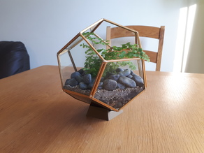 Terrarium stand (dodecahedron)