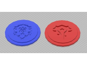 25mm Alliance and Horde mini-fig bases