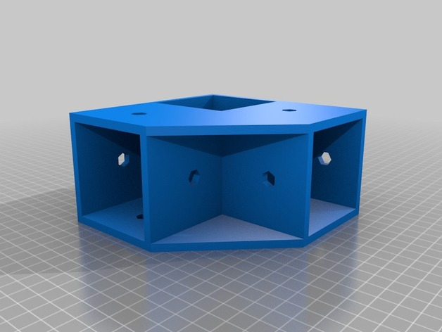 Corner t-joint for square poles