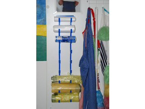 Storage location for bag rolls (extensible and customizable)