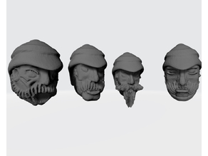 Interstellar Army - Colonial Troop Heads