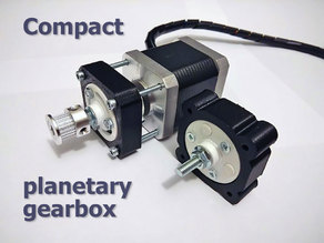 Compact planetary gearbox
