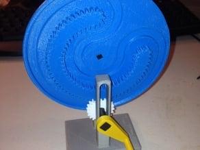 Mangle Wheel and Pinion