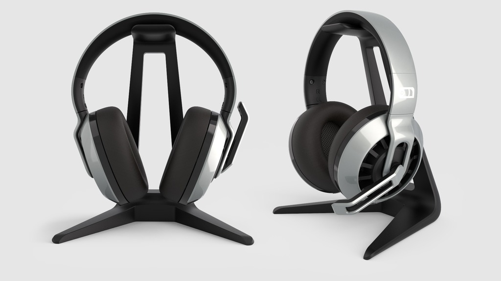Headphone Stand Designs : Headphone stand by makerbot thingiverse