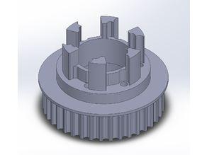 Longboard ABEC 11 Flywheels - Flywheel Clones - MBS All Terrain Wheels - CNC 38T Single Piece Pulley for 9mm, 12mm, 15mm Belts