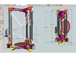 Foldy - a foldable Delta Printer