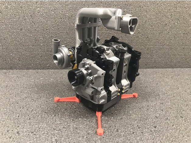Mazda RX7 Wankel Rotary Engine 13B-REW - Working Model by gemorgan