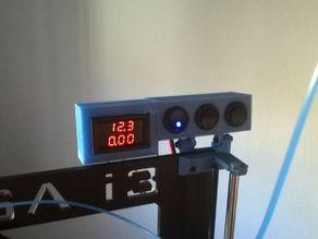 Soporte Voltimetro / Amperimetro Para impresora 3D A-004