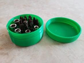 Circular compact bit and socket holder