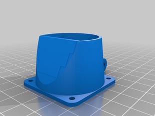Adjustable Blower-Fan Mount for Prusa i3 Greg's Wade Extruder (Short & naked version)
