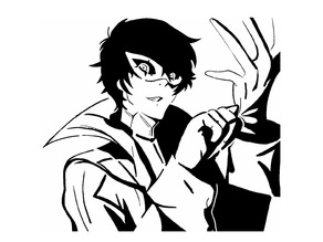 P5 Joker stencil