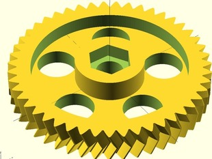 High Resolution Herringbone gears for Greg's Wade Reloaded extruder.