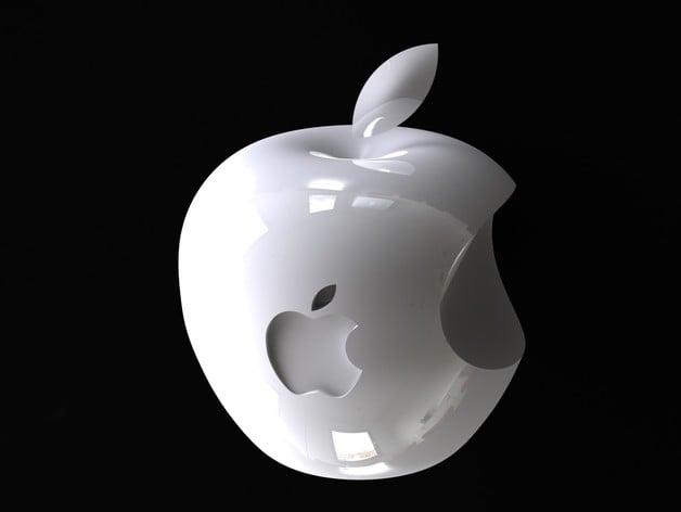 3d apple logo by cronaldo thingiverse. Black Bedroom Furniture Sets. Home Design Ideas