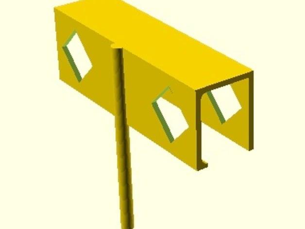 Bi-fold door lock by rocklob - Thingiverse