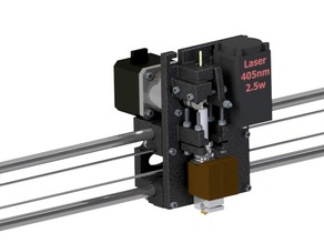 Prusa I3 Extruder + Laser X-Carridge