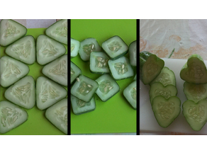 Fruit mold (triangle, square, heart)