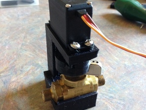 Servo Valve from Ball Valve + Hobby Servo
