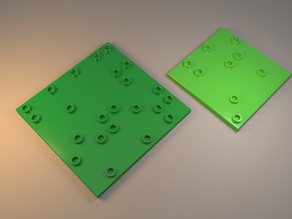 Lego compatible plates with few studs