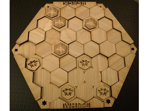 Hexagonal Isopath Game (Lasercut)