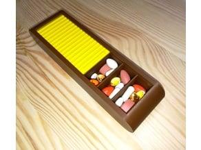 Pills Box with Sliding Door