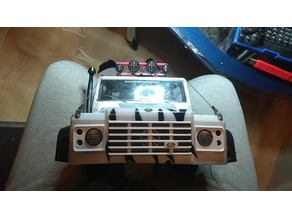 Landrover D90 front lights and Licence plate light.