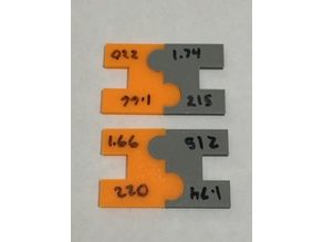 Interlocking calibration clips - Curves and straights