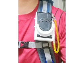 Holster for SONY RX100M3 that can be attached to the backpack