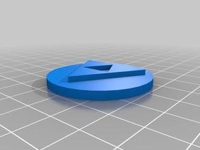 Cap Flat Zelda Triforce for Paper Towel Roll Holder