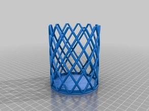 Wire mesh pencil pot