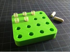 Pill capsule holder for homemade vitamins