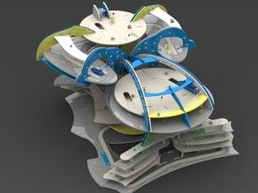 Construction toy 3d puzzle - alien city