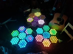 Hexalenses - Large panel RGB pixel lights