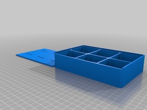 Enhanced parameterized compartment box with rounded inner- and outer edges w/lid