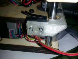 PrintrBot Simple Beta Z-Axis Limit Switch Mount - V2