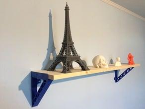 Truss form shelf bracket