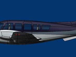 Conceptual Twin-Engine Plane