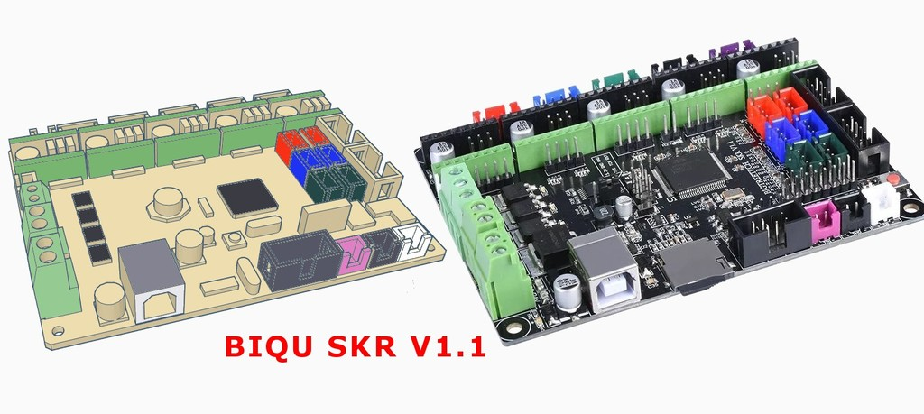 Biqu/Bigtreetech SKR boards (model for housing) by lokus77 - Thingiverse