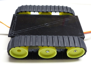 Tank Base for Lego rubber tracks