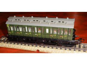 "Interiors for the Märklin compartment coaches ""Abteilwagen"" 4004 / 4005"