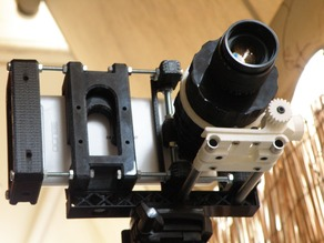 UPDATED!!!! Follow Focus + Lens Holder Kit for 8mm rods (rail setup) 48mm wide