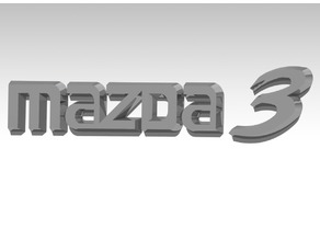 Stock Mazda 3 rear logo