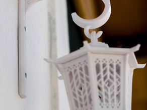 Wall bracket for asian lantern